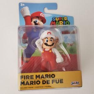 Jakks Fire Mario Figure NEW Super Mario Brothers